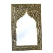 Orientalischer Marokkanischer Spiegel Wandspiegel S06 H41 cm versilberte Messing