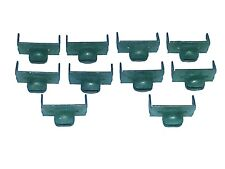55-80 NOS GM Chevy Side Door Glass Window Channel Run Weatherstrip Clips 10pcs D