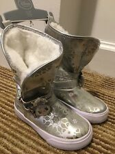 Disney Store Elsa Frozen Winter Snow Boots size Uk 6 Eu 23 BNWT