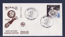 MONACO   enveloppe 1er jour football coupe d'Europe des clubs champions   1981