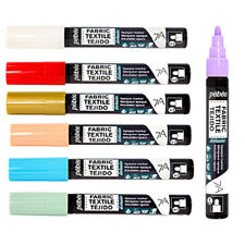 Pebeo 7A Opaque Fabric Paint 4mm Nib Marker Pens Available in 18 Colours