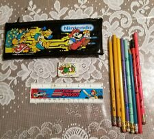Rare Vintage Nintendo School Kit 1988 Pencil Case Pouch Ruler Mario Set (Zelda)