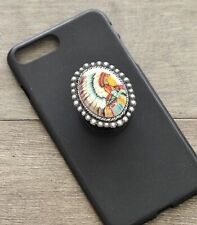 Western Indian Chief Retro Rockabilly Collapsible Cell Phone Grip Mount Holder