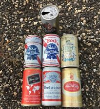 Beer Can Lot 7 West Virginia Tax Paid Strohs,Bud,Pabst,Fall City,Schlitz,Carling