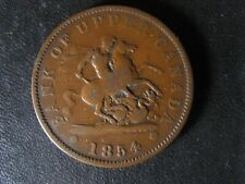 PC-6C2 One Penny 1854 token Crosslet 4 Bank of Upper Canada Breton 719