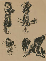Peter Collins ARCA - c.1970s India Ink, Studies of Women