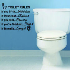 Toilet Rules Bathroom Removable Wall Sticker Vinyl Art Decals DIY Home DecoSC