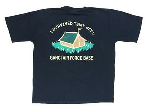 Ganci Air Force Base XL 49 T Shirt Operation Enduring Freedom Survived Tent City