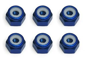 Associated 6943 Factory Team  Blue 8-32 Lock Nuts (New in Package)