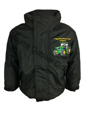 New Kids Regatta John Deere Tractor Logo Waterproof Jacket Windproof Coat