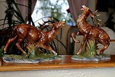 Absolutely Stunning Vintage 2 Red Deer Porcelain  Figurines -Germany
