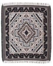 #5000 Native American Southwest Design Diamond Navajo Accent Throw Blanket Rug