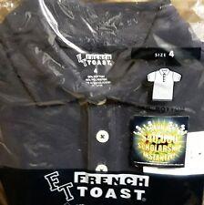 French Toast School Uniform Boys Size 4 Short Sleeve Polo Shirt Navy