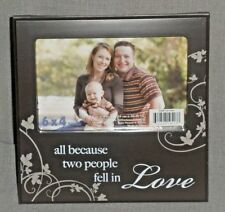 ~Wedding Photo/Picture Frame~All because two people fell in Love~Anniversary~