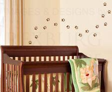 Paw Print Mural Kids Nursery Playroom Wall Decal Vinyl Sticker Art Graphic G35