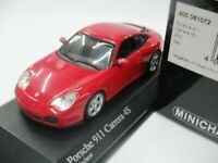 WOW EXTREMELY RARE Porsche 996 911 2001 Carrera 4S Coupe Red 1:43 Minichamps-GT2