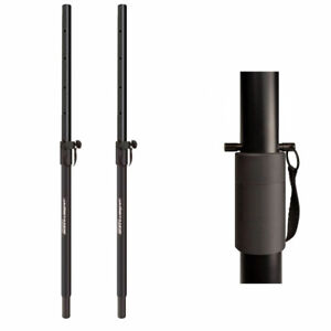 2X Speaker Pole 35mm Height Adjustable Heavy Duty Pin Lock top support Subwoofer