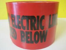 "New ShieldTec Red Tape Caution Electric Line Buried Below 6""x1000' 22130 Warning"