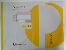 10 X 5KG EXTRA LARGE EXPRESS POST PREPAID SATCHEL BAGS YELLOW AUSTRALIA POST