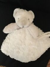 Blankets and Beyond White Teddy Beary Babys Lovey Security Nunu Blanket Rosette