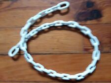 Chain Coated White 1/4'' x 4 ft. PVC Greenfield New Old Stock NOS Blem