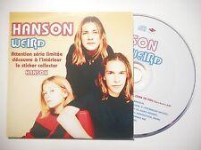 HANSON : WEIRD ♦ CD SINGLE PORT GRATUIT ♦