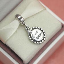 * Authentic Pandora Grandmother Grandma Charm 791128CZ w Gift Pouch