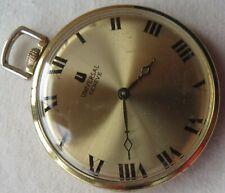 Universal Geneve pocket watch open face gold filled case 41 mm. in diameter