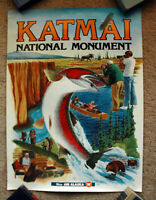 Original 1970s WIEN AIR ALASKA Travel Poster Katmai National Park airline art