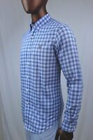 Ralph Lauren Long Sleeve Button Down Shirt Blue Plaid Multi-Color POLO Pony~NWT