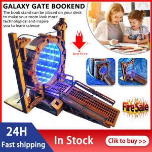 Stargate Bookend Galaxy Gate Bookends Creative Time Tunnel Book Shelf Decorative
