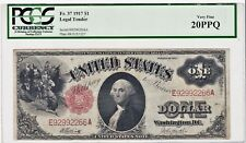 PCGS Certified VERY FINE 20 PPQ Series 1917 One $1 Dollar Large US Note