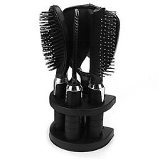 5x Women Ladies Hair Brush Massage Comb Mirror Holder Set With Mirror and Stand