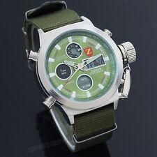 ZEIGER Herrenuhr Grün Armbanduhr Sportlich Digital Analog Datum Licht Herren Uhr