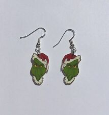 Grinch Earrings Christmas Charms