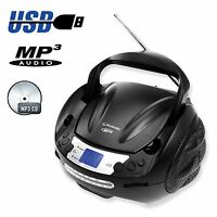 Boombox Portable CD Player With FM AM Radio With MP3 CD USB Playback