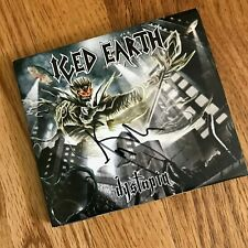 Iced Earth Dystopia Deluxe Edition CD Signed w/ booklet poster and decal
