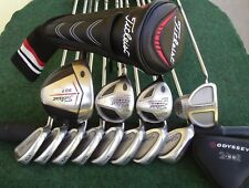 Titleist Driver Irons Woods Odyssey Putter Mens Complete Golf Club Set Left Hand