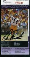 Dan Fouts Jsa Coa Autographed 1997 Upper Deck Authenticated Hand Signed