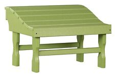 4 Season Outdoor Ottoman Lime Green All Weather Outdoor Adirondack Footrest Usa