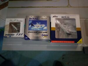 Lot 3 1:400 Royal Aviation Airlines collection L-1011 737 and 757