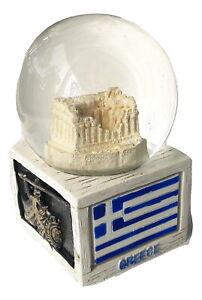 New Souvenir Snowdome Greek Greece Athens Snowglobe Parthenon Acropolis 95mm
