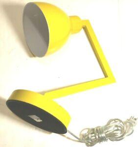 "2018 Yellow Portable Luminaire 18"" LED Desk Table Lamp Model No. GF-205"