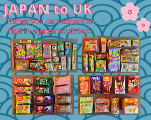 20-25 items Japanese Sweets and Snacks Box