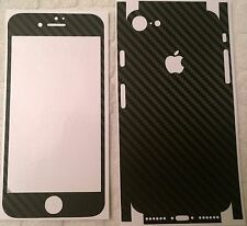 Carbon Fiber Black Textured Vinyl Skin Wrap for Apple iPhone 7 - DilloWraps