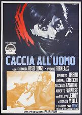 CINEMA-manifesto CACCIA ALL'UOMO orsini, rossi drago, forneaux, RICCARDO FREDA