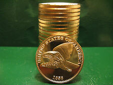 "20 ""1856 Flying Eagle"" 1oz .999 Copper 20 beautiful rounds 1 Roll Plastic Tube"