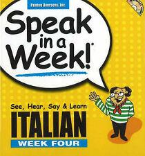Italian: See, Hear, Say and Learn: Week 4 by Penton Overseas Inc (Mixed media...