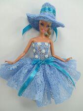 Barbie Doll Outfit Costume Dress & hat Fairytopia Ballerina Fairy Angel # FA-25