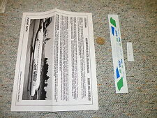 Flight Path decals 1/200 FP20-38 Air West DC-9-10 / 30 blue green  H81